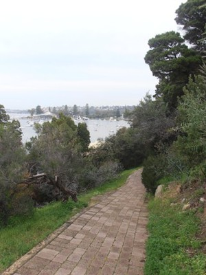 Walking trail overlooking the Swan River, Peppermint Grove
