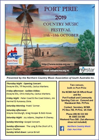 Port Pirie, Country Music Festival, music, counrty music, folk music, events in Port Pirie, music festivals