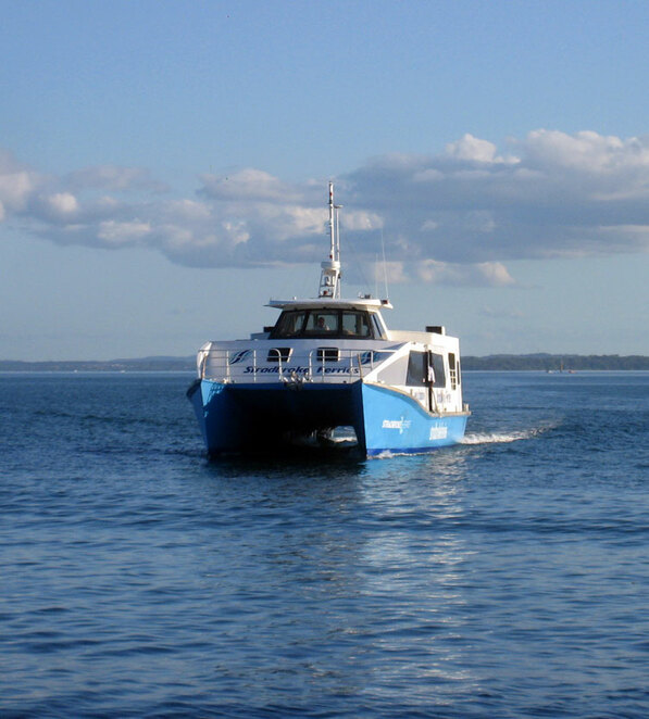One of the ferries to North Stradbroke Island