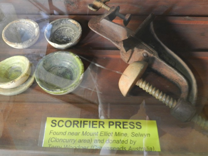 scorifier press, assay museum, assay equipment, charters towers, assay history, history of mining in australia, things to see in charters towers,