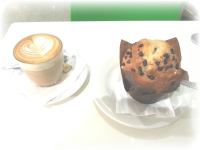 Sweet but not sickly: A latte and muffin from T bar