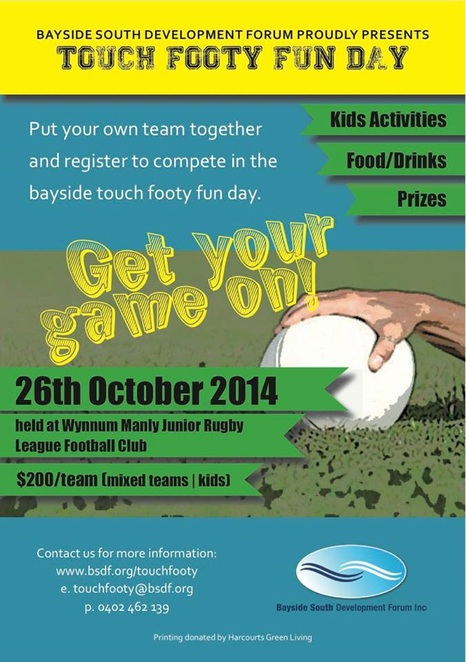 Touch footy poster