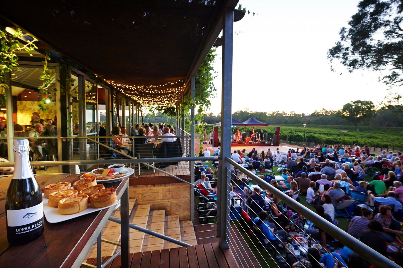 upper reach winery twilight concert series perth by newt. Black Bedroom Furniture Sets. Home Design Ideas