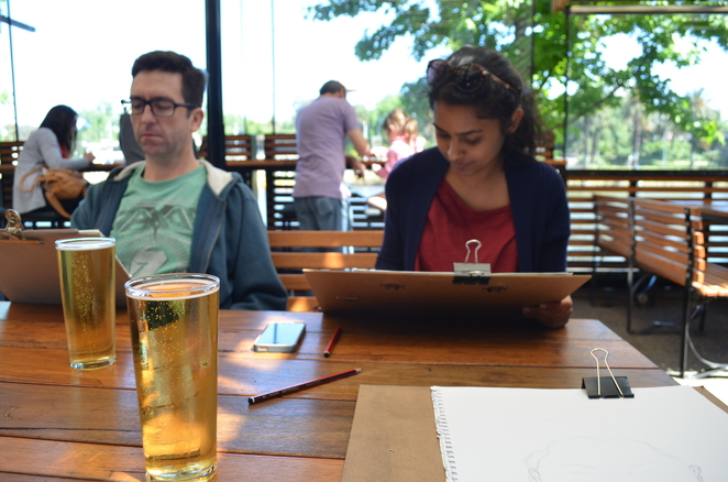 Yarra, Sketching, Secret Sketch Crawl, Art, Outdoor Sketching, Beer