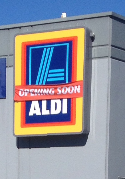 aldi, shops, shopping, groceries, supermarket, store, logo, sign