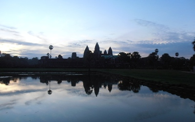 Early morning at Angkor Wat