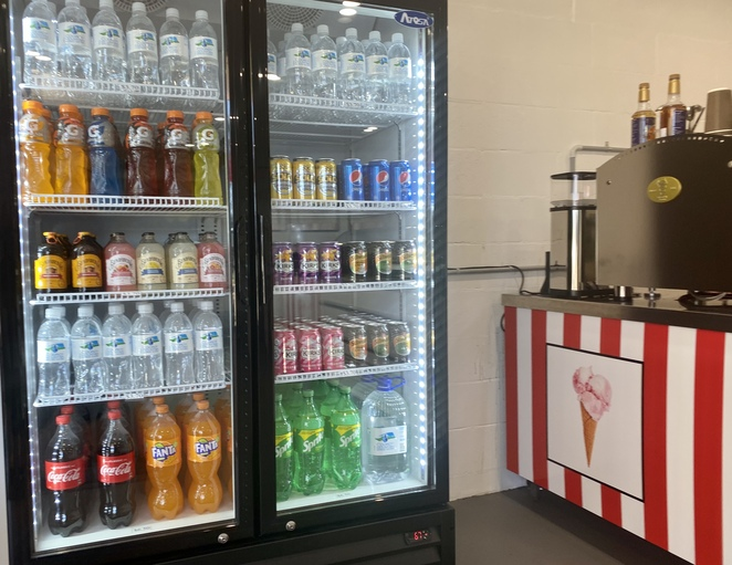 More conventional coffee and cold drinks are also available