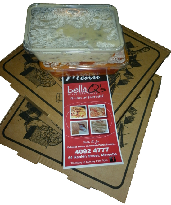 Bella Q's, pizza, Mareeba, pasta, takeaway