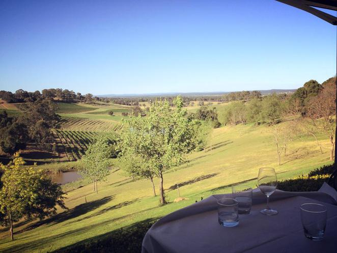 bistro molines, view, countryside, nsw, hunter valley, restaurant, dining, outdoors, nature, escape the city