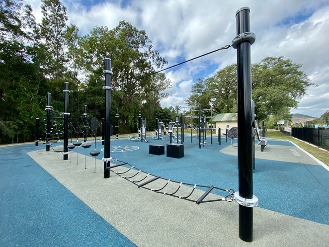 An outdoor gym, or an adult's playground? You decide!