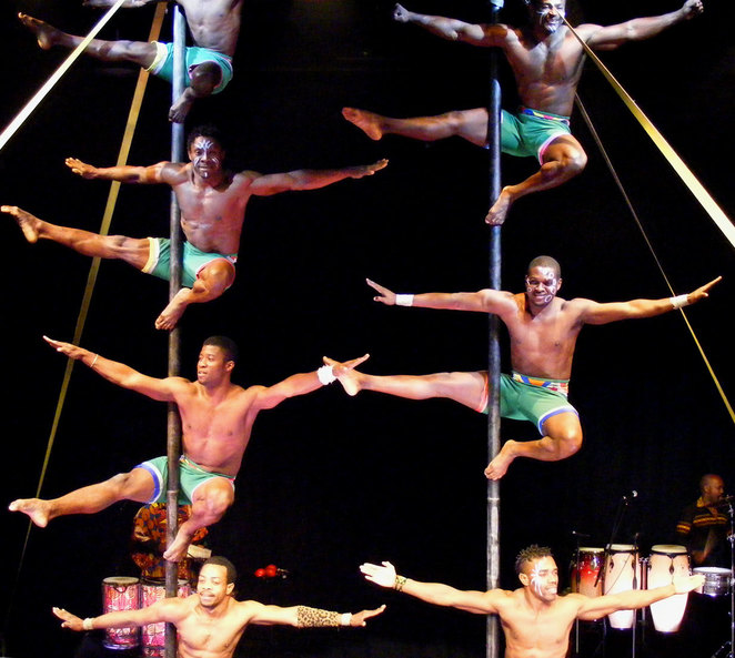 Acrobats performing at Cirque Africa