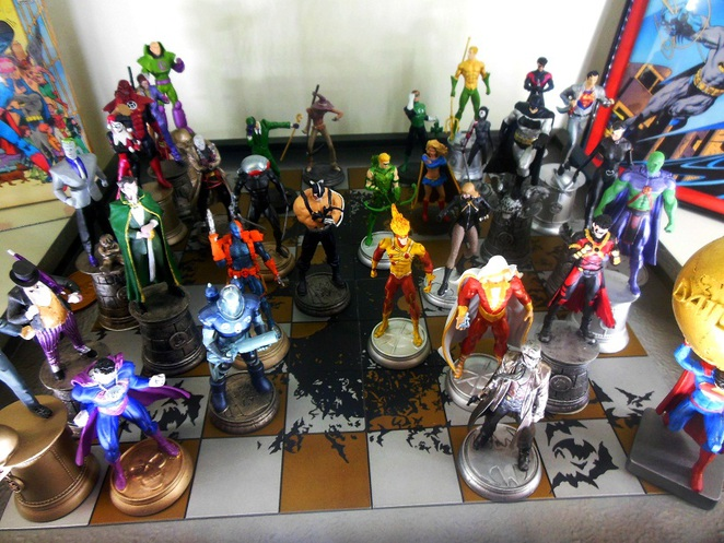DC Comics Super Heroes figurines at Singapore Philatelic Museum
