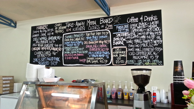 Deli, Flora, Terrace, North Beach, Cafe, Breakfast, Lunch, Homemade, Local, Secret, Perth, Menu, Chalkboard