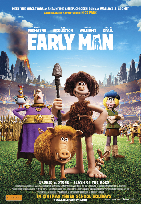 Early Man, Early Man film, Early Man movie, Film reviews, Movie reviews, Children's movies, Kid's movies, Animated films, Stop-animation films, New releases, School holiday films, School holiday movies