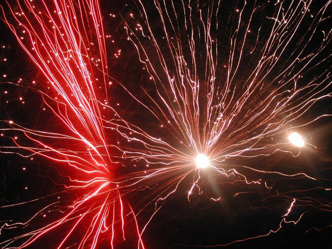 fireworks new year celebration resolution