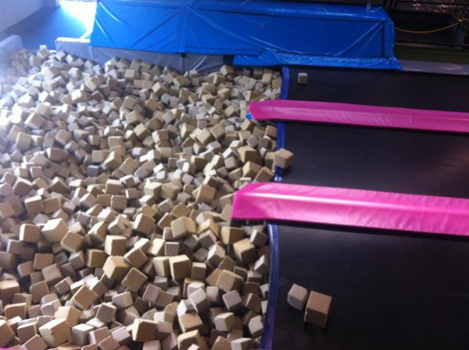 foam pit, kids, fun, jumping, active, exercise