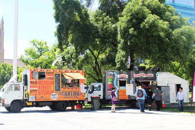 food trucks, la cantina co, burger theory, adelaide food trucks