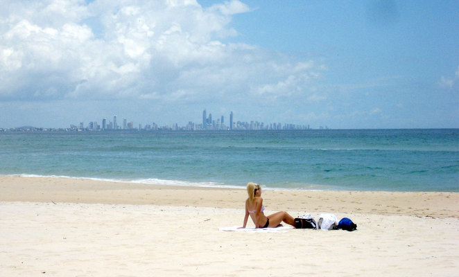 Surfers Paradise seen from Coolangatta