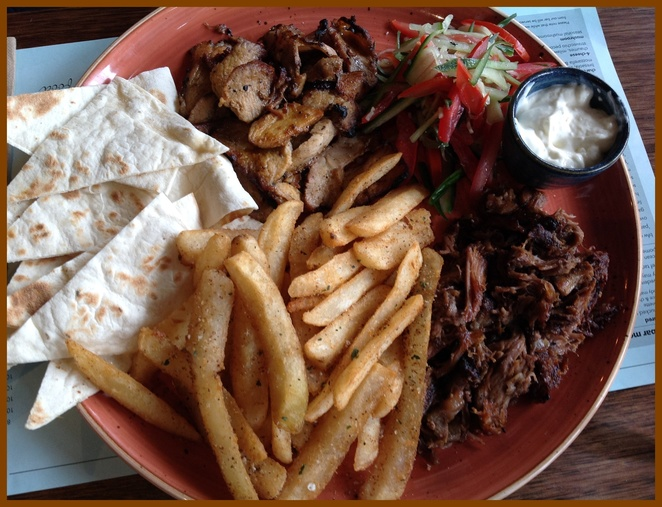 Gyros meat plate