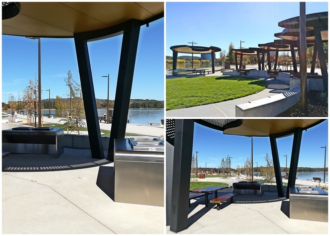 henry rolland park, canberra, ACT, parks, lake burley griffin, board walk, new park, exercise equipment, BBQ areas