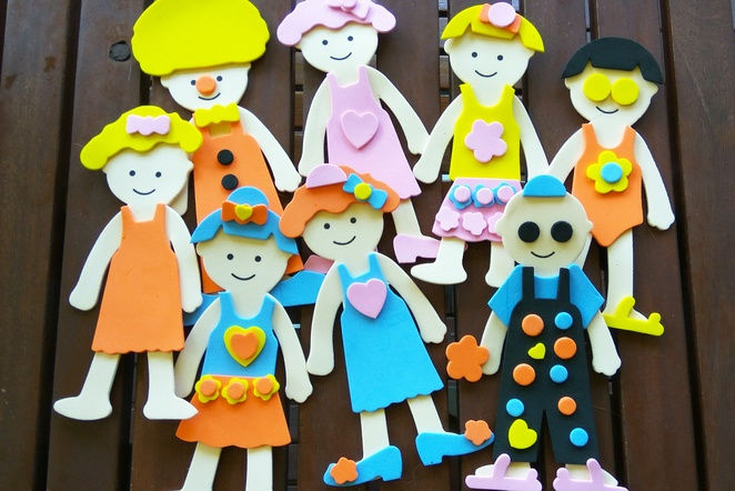 foam dolls, activities for kids