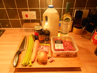 ingredients, bolognese