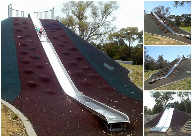 kambah adventure park, canberra, best playgrounds, best slides, best parks, tuggeranong, families, ACT, toddlers