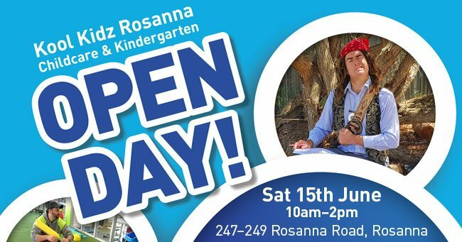 kool kidz rosanna, purpose built childcare facility, play areas, community event, fun for kids, entertainment, educational, toys, kook beginnings curriculum, finger print scanning security, modern child care facility, free family fun, pete the pirate, little sports heroes, face painting, free activities for kids