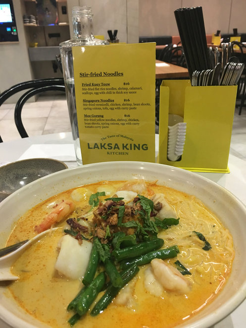 laksa king, laksa king kitchen, malaysian restaurant, westfield southland shopping centre, food hall, cheap eats, eatery, malaysian food, asian cuisine, seafood curry laksa, fun things to do, recreation, family fun, nightlife