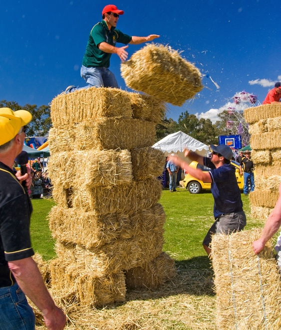 meadows country fair, meadows market, meadows hotel, meadows, south of adelaide, adelaide hills, battunga country, market stalls, kids activities, hay bales
