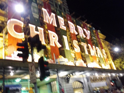 Merry Christmas at Flinders St Station