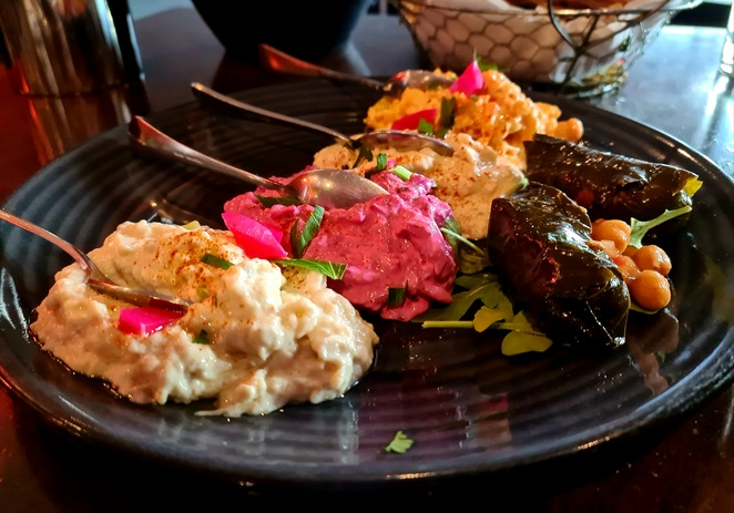 Middle eastern, dips, share, dinner, lunch, entree, family, restaurant, food, wine, Canberra