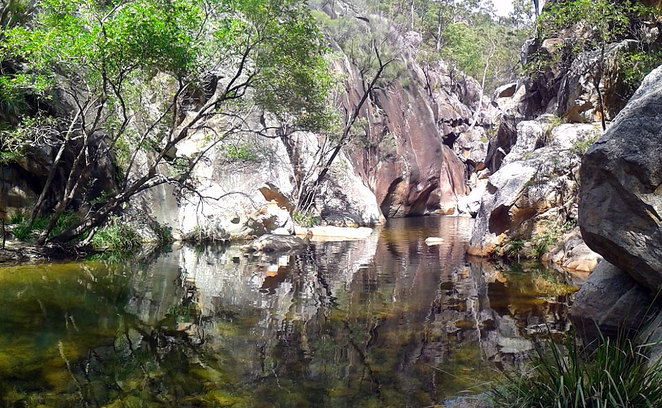 Lower Portals swimming hole at Mt Barney