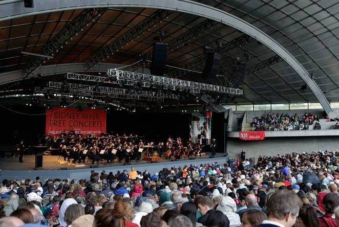 Myer Music Bowl Free Concerts