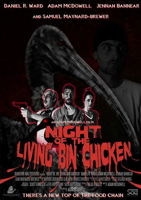 Night Of The Living Bin Chicken, Adam McDowell, Daniel R. Ward, Samuel Maynard-Brewer, Jennah Bannear, Jarrod Lockwood, Ibis, Birds, Bin Chicken, Bin, Chicken, Zombie, Cult, Bird Cult, Birds, Amniotic Fluid, Pregnant, Horror, Short, Musical, Horror, Horror-Musical, Perth Movie, Perth Film, Perth, Western Australia, Night Of The Living Dead, The Birds, SAE, WA, Australian Cinema, Johnston Walter Films
