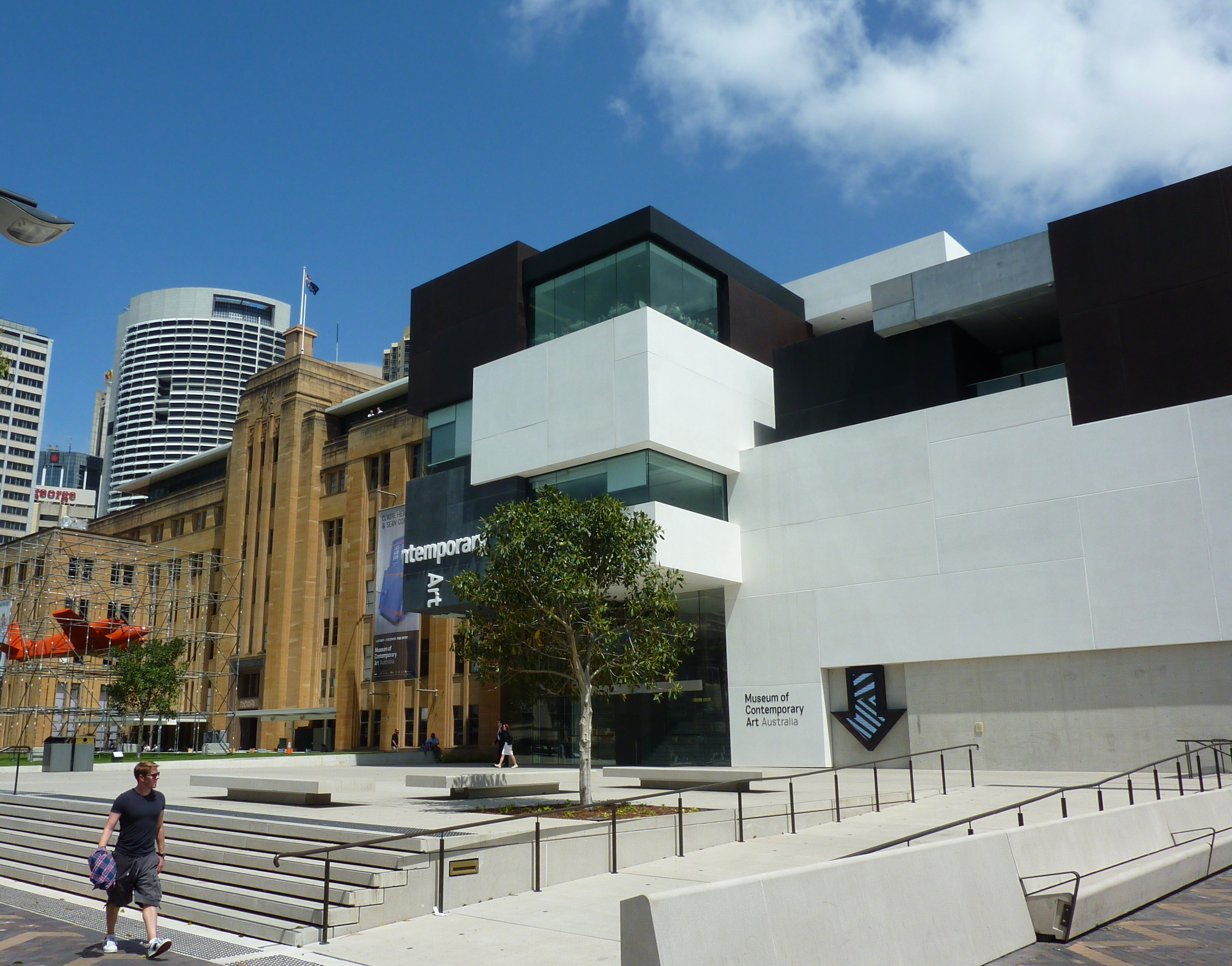 the museum of contemporary art now and then photos sydney