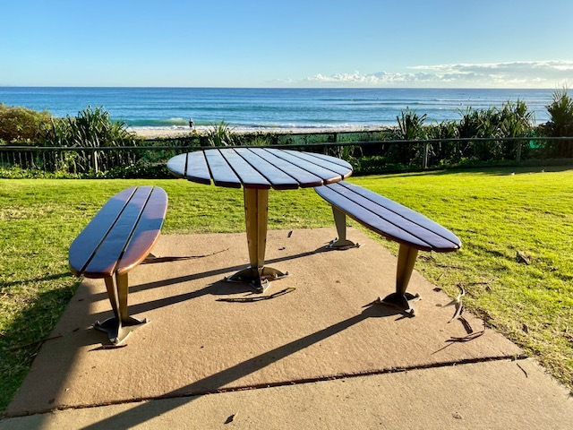 A stunning place for a picnic with views all the way to Surfer's Paradise