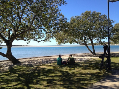 Relaxing in Cotton Tree Park