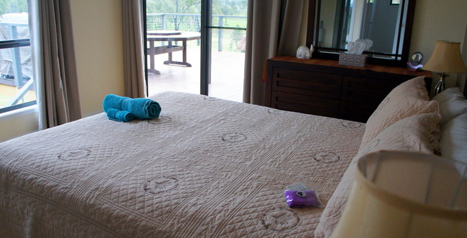 The master bedroom at Stockton Rise Country Retreat