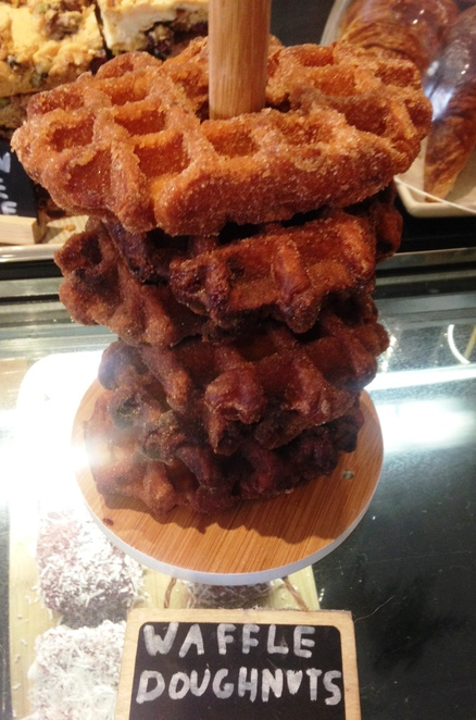 The Left handed chef, waffle donut, south melbourne cafes