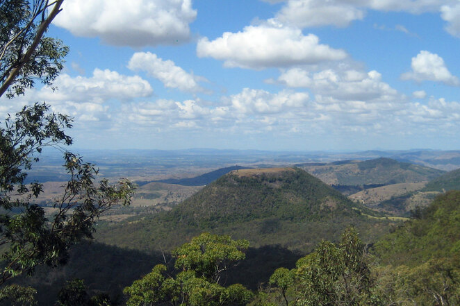 The view from Picnic Point Lookout in Toowoomba