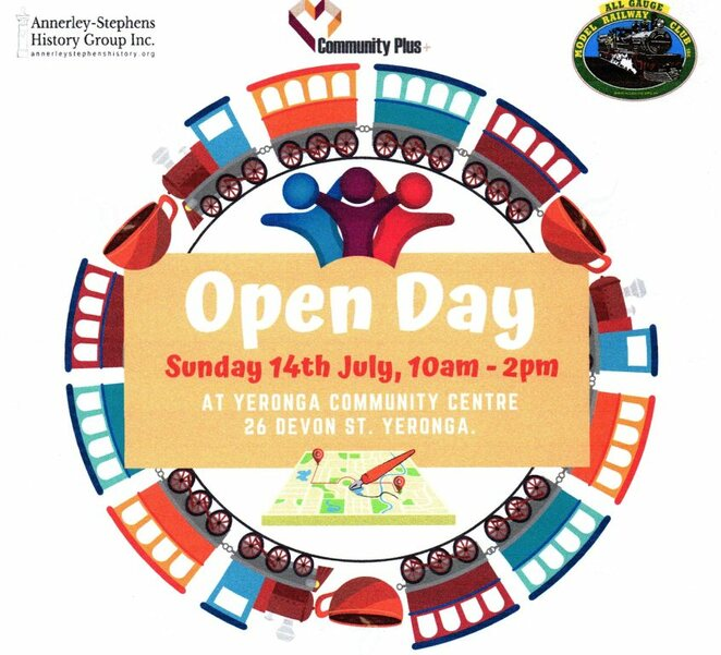 yeronga, community, open day, historical, hobby train, refreshments, free
