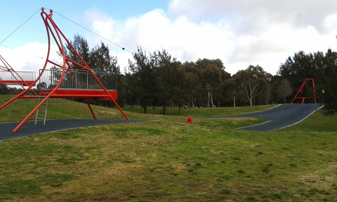 yerrabi ponds, gungahlin, playground, canberra, ACT, flying fox, toddler playground, liberty swing, parks,