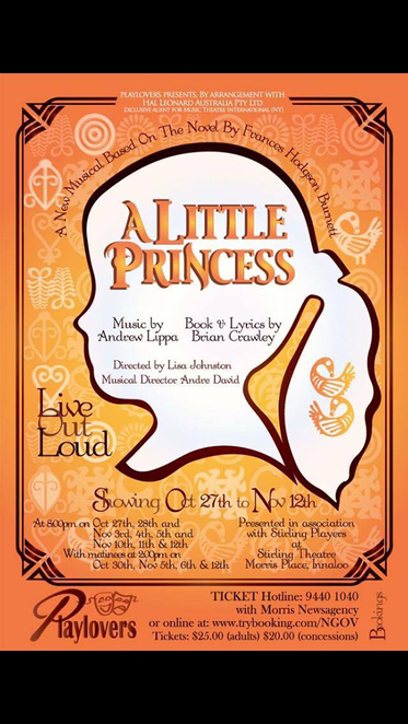 A Little Princess, Playlovers, Stirling Theatre, Andrew Lippa, Brian Crawley, Lisa Johnson
