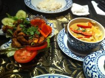 BBQ chicken and green curry