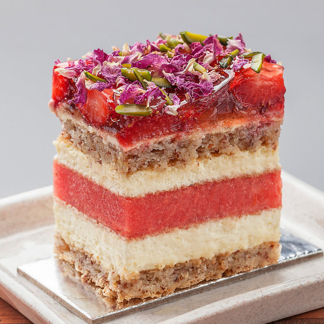 black star pastry watermelon strawberry cake