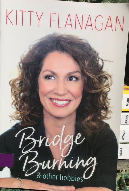 books, authors, recommended reads, kitty flanagan, bridge burning, spring, relax