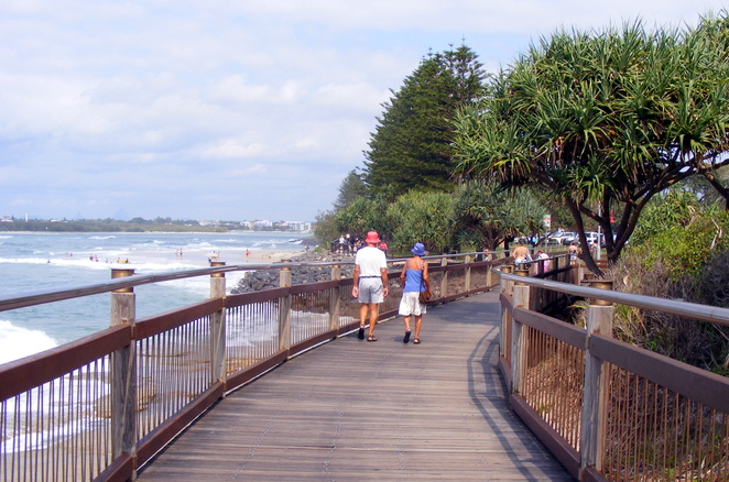 The boardwalk at Caloundra make for a great coastal walk