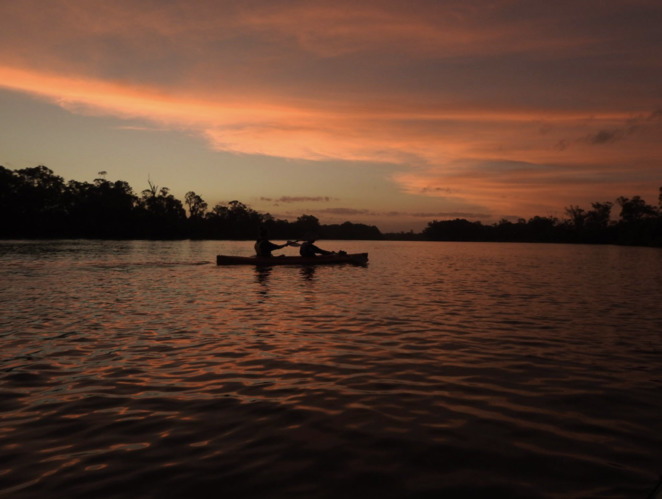 Canoe along the River Murray during a gorgeous sunset
