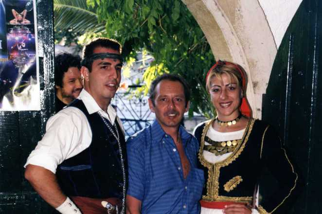 Col with Greek dancers